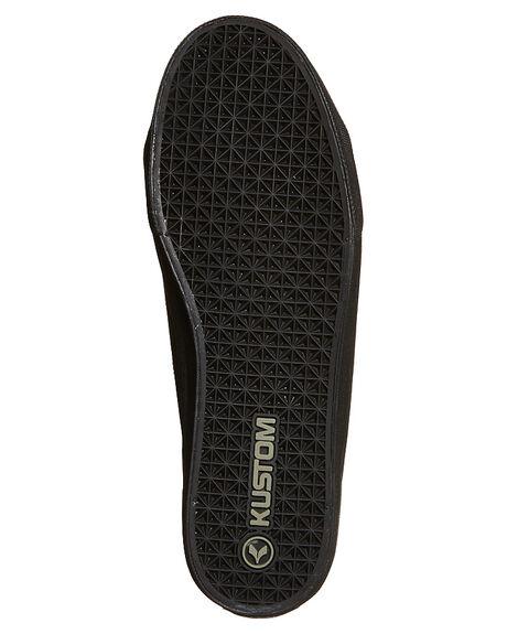 BLACK LEATHER MENS FOOTWEAR KUSTOM SNEAKERS - 4981104GI