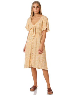 MUSTARD WOMENS CLOTHING THE HIDDEN WAY DRESSES - H8184444MUST