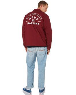 SANGRIA RED MENS CLOTHING DEUS EX MACHINA JACKETS - DMW96029CSGRED