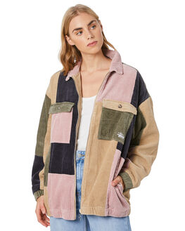 CAMEL WOMENS CLOTHING STUSSY JACKETS - ST106712CAML