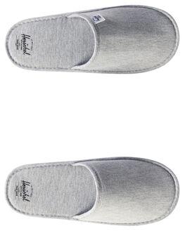 HEATHERED GREY MENS FOOTWEAR HERSCHEL SUPPLY CO SLIP ONS - 10545-02256-HGRY