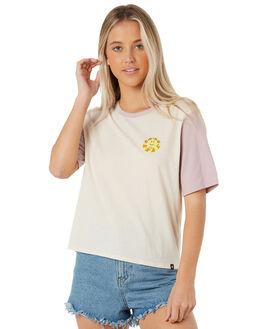 LIGHT CREAM WOMENS CLOTHING HURLEY TEES - AQ4539-200