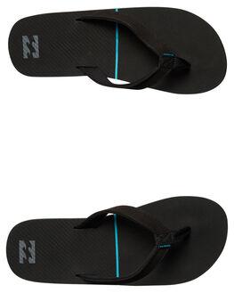 BLACK MENS FOOTWEAR BILLABONG THONGS - 9672938BLK