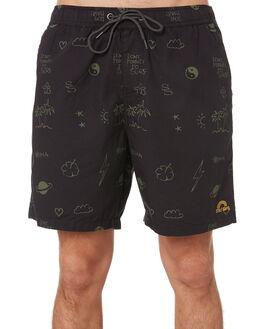 BLACK OLIVE MENS CLOTHING STAY BOARDSHORTS - SBO-1904BKOL