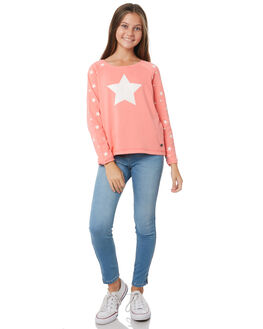 NEON CORAL WHITE KIDS GIRLS EVES SISTER JUMPERS + JACKETS - 9990068PEAC