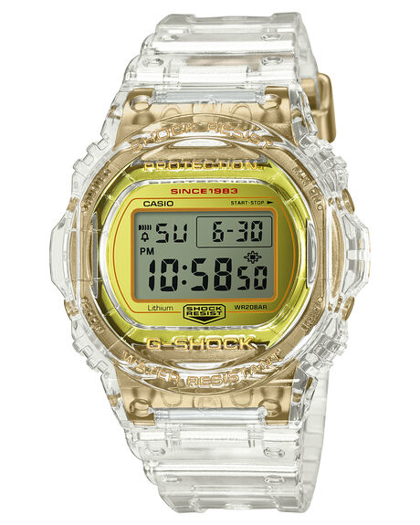 GOLD CLEAR BAND MENS ACCESSORIES G SHOCK WATCHES - DW5735E-7DGLDCL