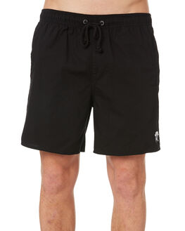 PEACE BROTHER BLACK MENS CLOTHING AFENDS BOARDSHORTS - M183358BLK