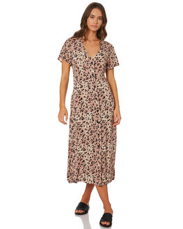 LEOPARD WOMENS CLOTHING SWELL DRESSES - S8189445LEO