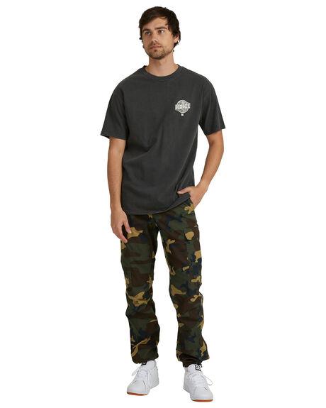 BLACK MENS CLOTHING DC SHOES TEES - UDYZT03892-KVJ0
