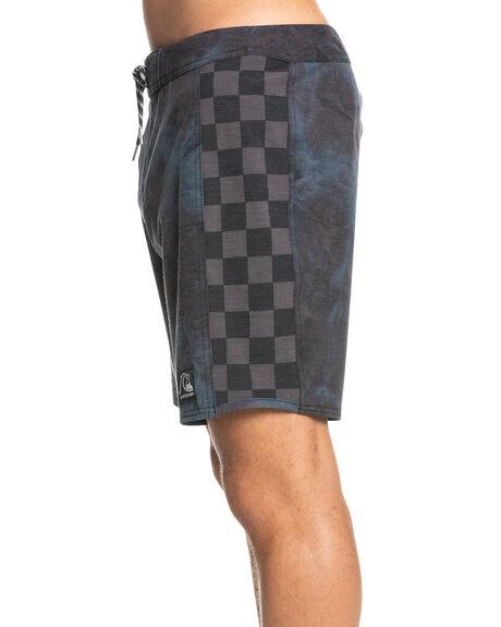 TIE DYE BLACK MENS CLOTHING QUIKSILVER BOARDSHORTS - EQYBS04630-KVJ6