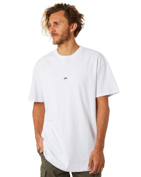 WHITE MENS CLOTHING RUSTY TEES - TTM1956WHT