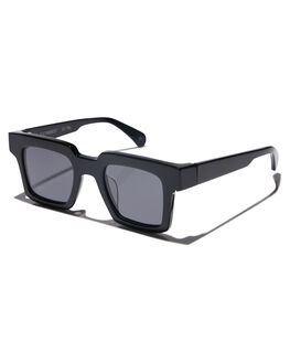 GLOSS BLACK MENS ACCESSORIES OSCAR AND FRANK SUNGLASSES - 002BLGBLK