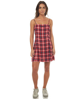 REDCHK WOMENS CLOTHING STUSSY DRESSES - ST172517REDC