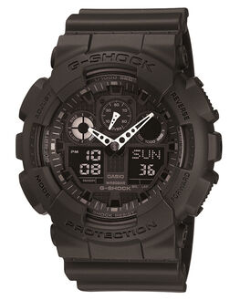 BLACK MENS ACCESSORIES G SHOCK WATCHES - GA1001A1BLK