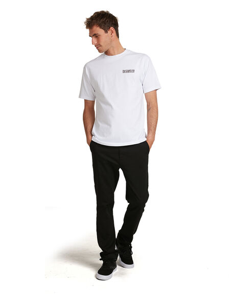 WHITE MENS CLOTHING DC SHOES TEES - UDYZT03784-WBB0