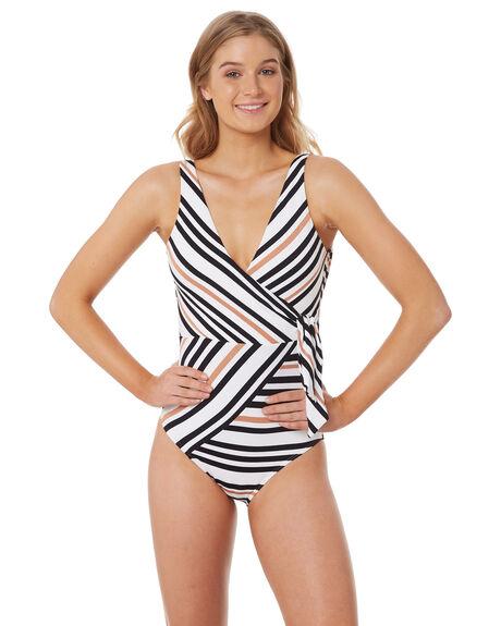 532855ded0678 Jets Vista Wrap One Piece - Black White | SurfStitch