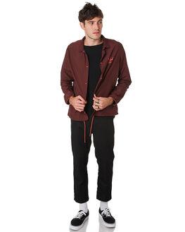 PLUM MINERAL RED MENS CLOTHING HERSCHEL SUPPLY CO JACKETS - 15002-00337PLMRD