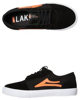 BLACK KIDS BOYS LAKAI SKATE SHOES - KS1190227A00BLK