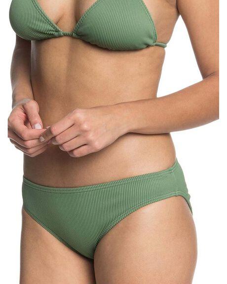 VINEYARD GREEN WOMENS SWIMWEAR ROXY BIKINI BOTTOMS - ERJX403987-GNT0