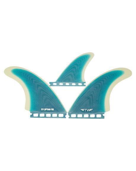 TURQUOISE BOARDSPORTS SURF CAPTAIN FIN CO. FINS - CFF2411703-TURTURQ