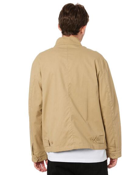 KHAKI MENS CLOTHING MR SIMPLE JACKETS - M-09-33-05KHK