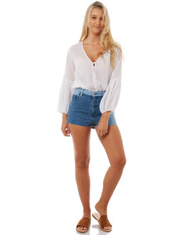DENIM WOMENS CLOTHING TIGERLILY SHORTS - T385302DEN