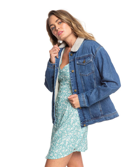MEDIUM BLUE WOMENS CLOTHING ROXY JACKETS - ERJJK03349-BMTW