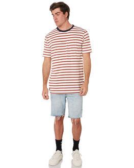 BONE STRIPE MENS CLOTHING RPM TEES - 9SMT01C1BNEST