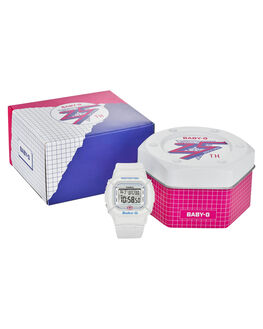 WHITE WOMENS ACCESSORIES BABY G WATCHES - BGD525-7DWHI