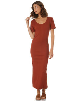 RUST WOMENS CLOTHING THRILLS DRESSES - WTH8-903HRST