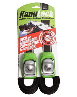 BLACK GREEN BOARDSPORTS SURF KANULOCK BOARD RACKS - KNLT-25M-08FBLKGR