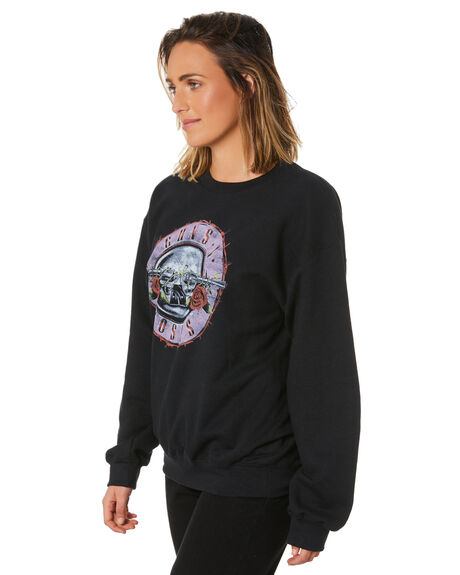 BLACK WOMENS CLOTHING UNIVERSAL JUMPERS - GNR399BLK