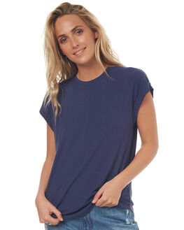 GERMAN BLUE WOMENS CLOTHING RUSTY TEES - TTL0898GER