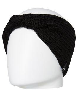 BLACK WOMENS ACCESSORIES RUSTY HEADWEAR - HOL0157BLK