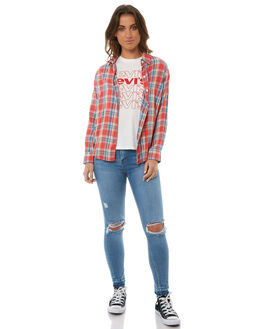 LARUAN PLAID WOMENS CLOTHING LEVI'S FASHION TOPS - 39655-0001LAR