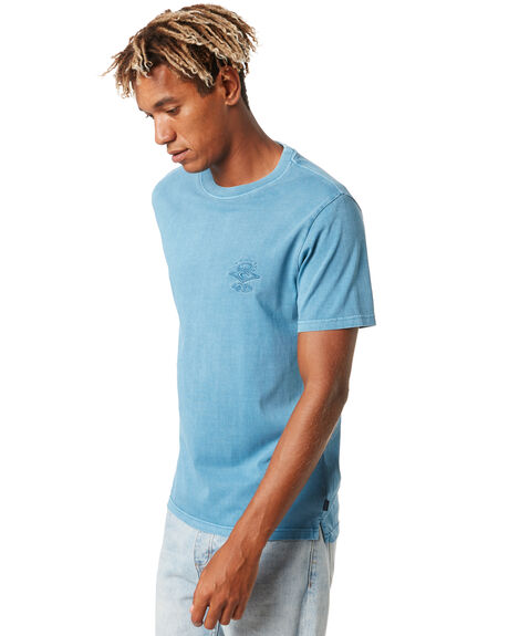 DUSTY BLUE MENS CLOTHING RIP CURL TEES - CTEMK93458