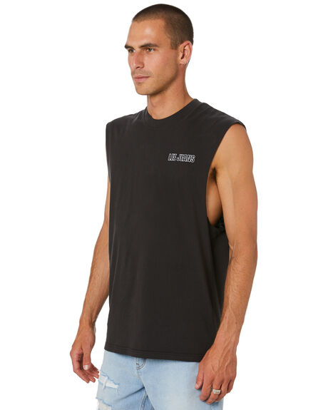 FADED BLACK MENS CLOTHING LEE SINGLETS - L-602079-A98