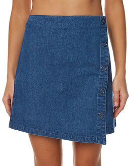 VINTAGE BLUE WOMENS CLOTHING THE FIFTH LABEL SKIRTS - TX170305SKBLK