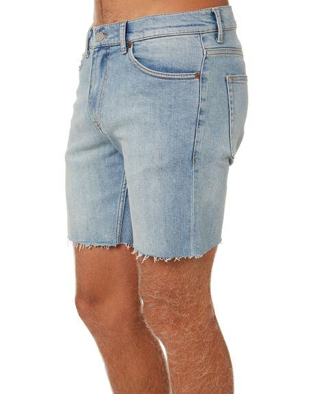 CREEK LIGHT BLUE MENS CLOTHING DR DENIM SHORTS - 2110101I77CLBL