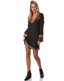 BLACK WOMENS CLOTHING TIGERLILY DRESSES - T373413BLK