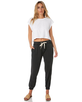 BLACK WOMENS CLOTHING RIP CURL PANTS - GPABL70090
