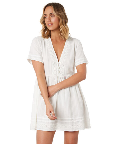 WHITE WOMENS CLOTHING RUSTY DRESSES - DRL1050-WHT
