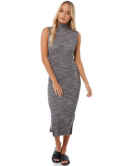ANTHRACITE WOMENS CLOTHING ROXY DRESSES - ERJKD03177KVJ0