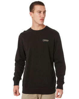 BLACK MENS CLOTHING STACEY JUMPERS - STFLEE002TVBK
