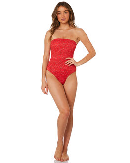 RED MULTI WOMENS SWIMWEAR THE UPSIDE ONE PIECES - UPBW418036REDML