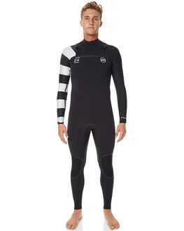 BLACK STRIPED SURF WETSUITS NARVAL WETSUITS STEAMERS - NW-MBC6001BLKST