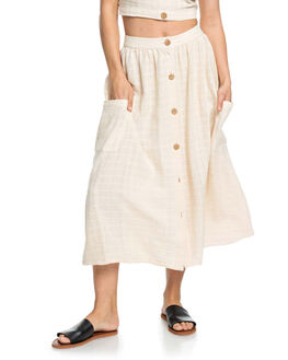 IVORY CREAM WOMENS CLOTHING ROXY SKIRTS - ERJWK03062-TFM0