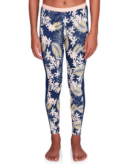 MED BLUE FLORAL KIDS GIRLS ROXY PANTS - ERGNP03043-BTE6