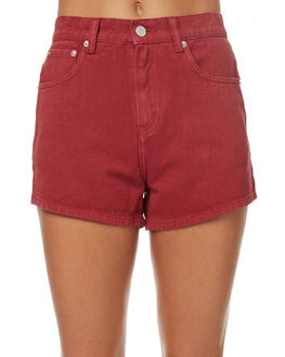 RED WOMENS CLOTHING ZULU AND ZEPHYR SHORTS - ZZ1787RED