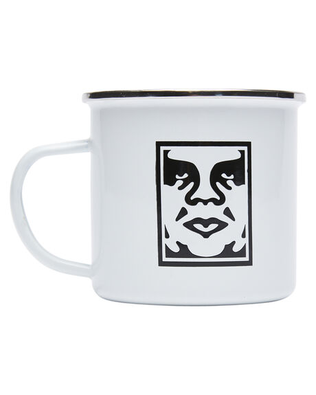 WHITE MENS ACCESSORIES OBEY DRINKWARE - 100630001WHT